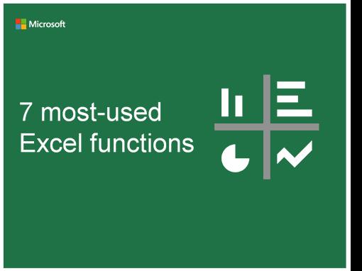 Excelで最も使う! 関数ベスト7(Microsoft調べ)
